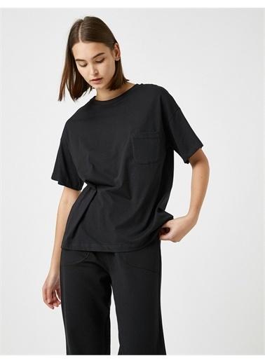 Koton  %100 Pamuk Pijama Üstü Siyah
